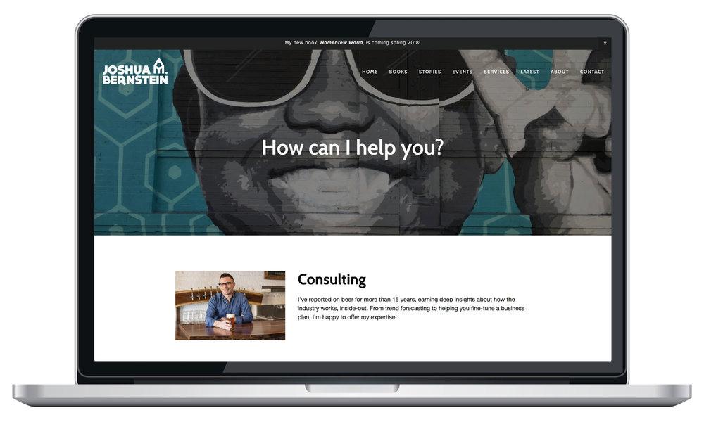 Squarespace services page