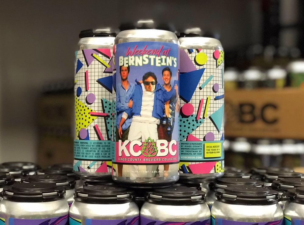 Weekend at Bernstein's -KCBC beer label design for Joshua M. Bernstein's 40th Birthday.