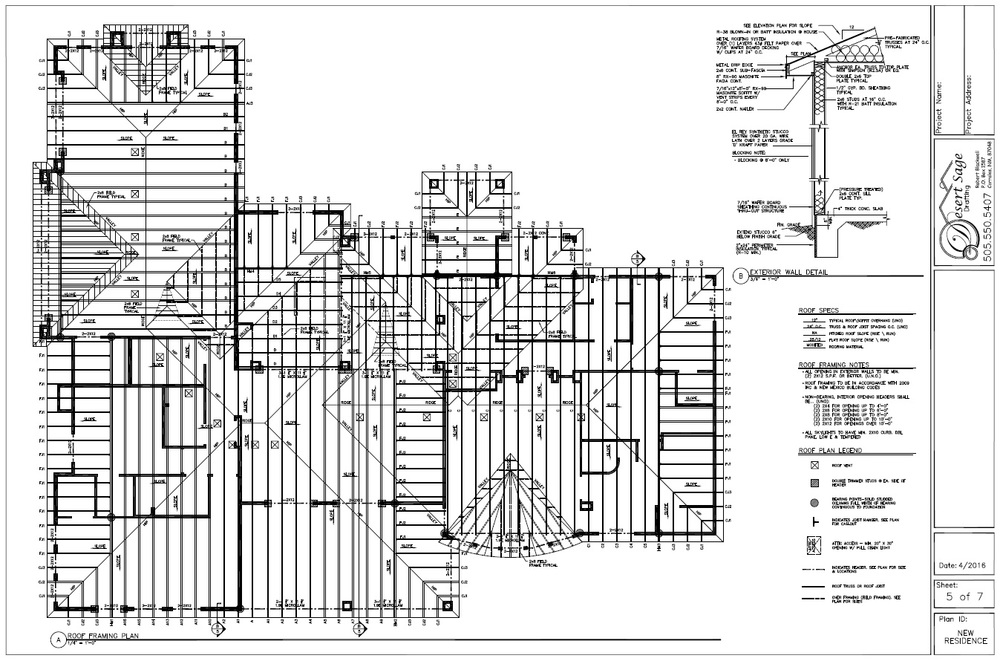 Residential Framing Plans