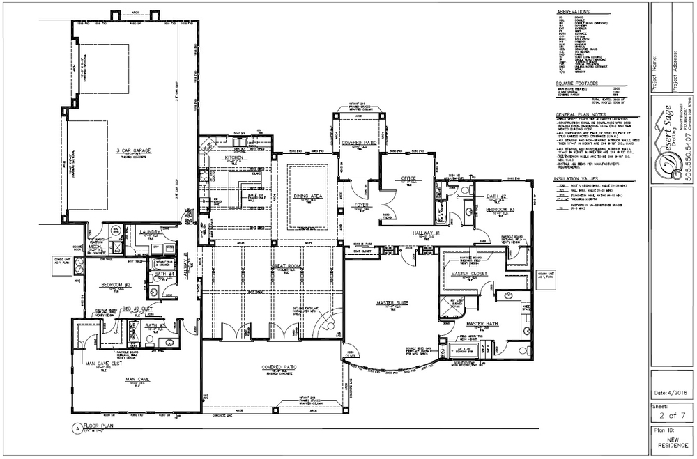 Residential Drafting Info — Desert Sage Drafting