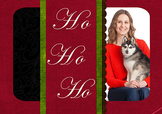 One of the many fun custom holiday card designs available
