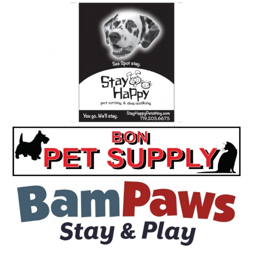 2018 SPONSORS: Stay Happy Pet Sitting  BamPaws Stay & Play & Bon Pet Supply