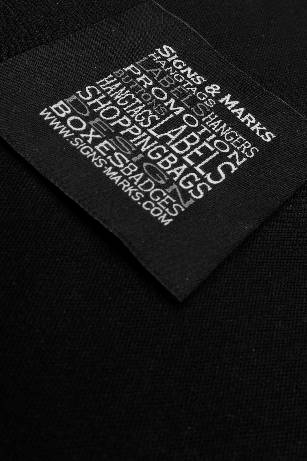 Signs & Marks - Hangtags, Labels, buttons, Design, Production...