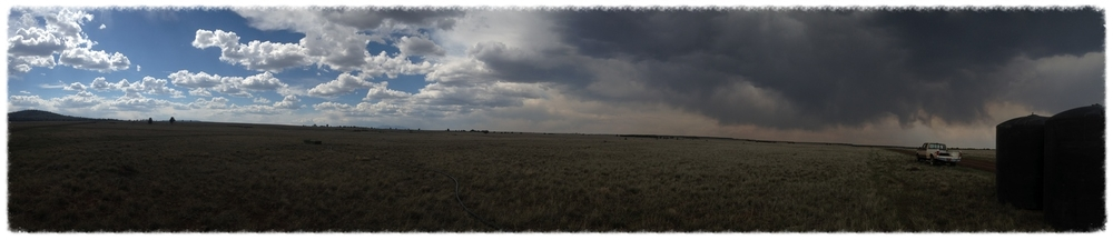 An early-May storm brewing over the Flying M Ranch (credit: Jeremy D. Krones)