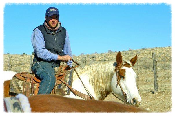 Jeremy's last day on Flying M Ranch in January 2013, herding on horseback