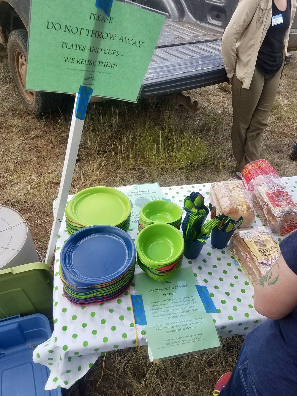 Thank you to the Friends of Flagstaff's Future for their reusable diningware program.