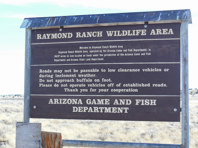 Sign at the entrance to RWA