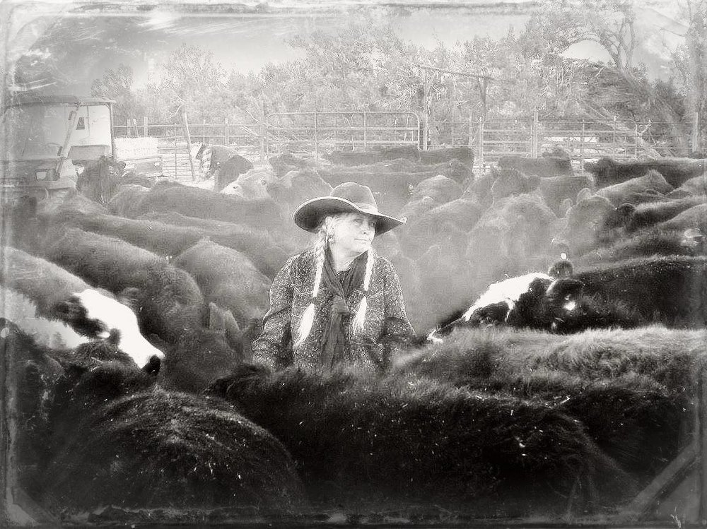 Sheila Carlson: Cowgal, poet, photographer  (photo by Kate Gowing)
