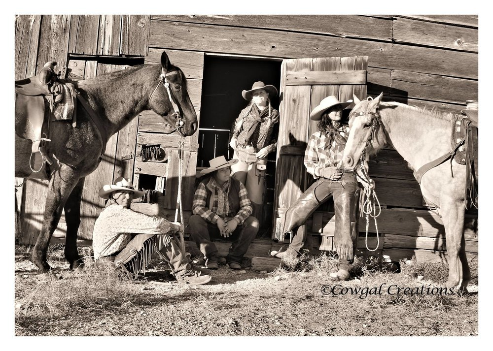 Cowboys by any other name . . .  (photo by Sheila Carlson, Cowgal Creations)