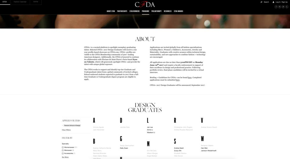CFDA Award 2016