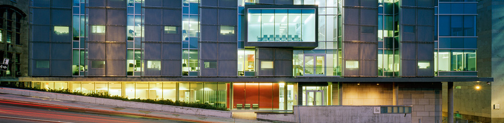 McGill University and Génome Québec Innovation Centre (Image: Michel Brunelle. Courtesy of Fichten Soiferman et Associés Architectes)