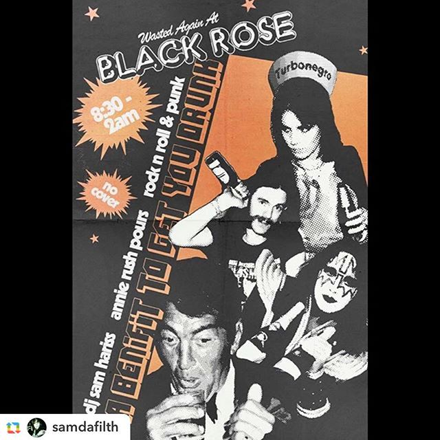 "#GPRepost,#reposter,#notetag @samdafilth via @GPRepostApp ======  @samdafilth:(Big Paul Stanley Voice) ""TONIiiiGHT!"" at The Black Rose, 117 Avenue A, ill be DJing solo from 8:30 to 2.... Rob's in England so its just me and Annie.... shits gonna be a daunting affair and shit, lower your expectations then double em! Rock N Roll, Punk, and some wierd'ns for you weirdos  dunders unite tonite, now I'm going back to sleep. #littleolewinedrinkerme #rocknroll #punk #glam #glitter #soul #powerpop #westernswing #bubblegum #girlgroups #50s #60s #70s #80s #90s #blackrosenyc #theblackrosenyc #dj #nyc #les #dunderheads #drunk #deanmartin #acefrehley #lemmy #joanjett #turbojugend"