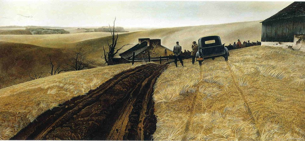 Andrew Wyeth,  Public Sale,  1943