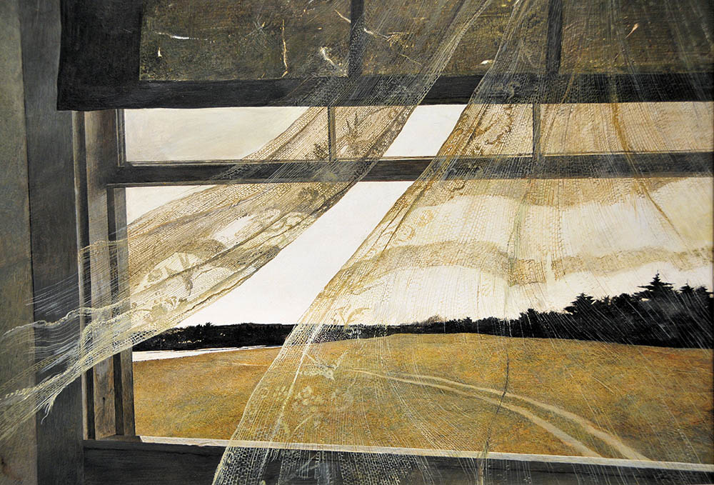 Andrew Wyeth , Wind from the Sea , 1947