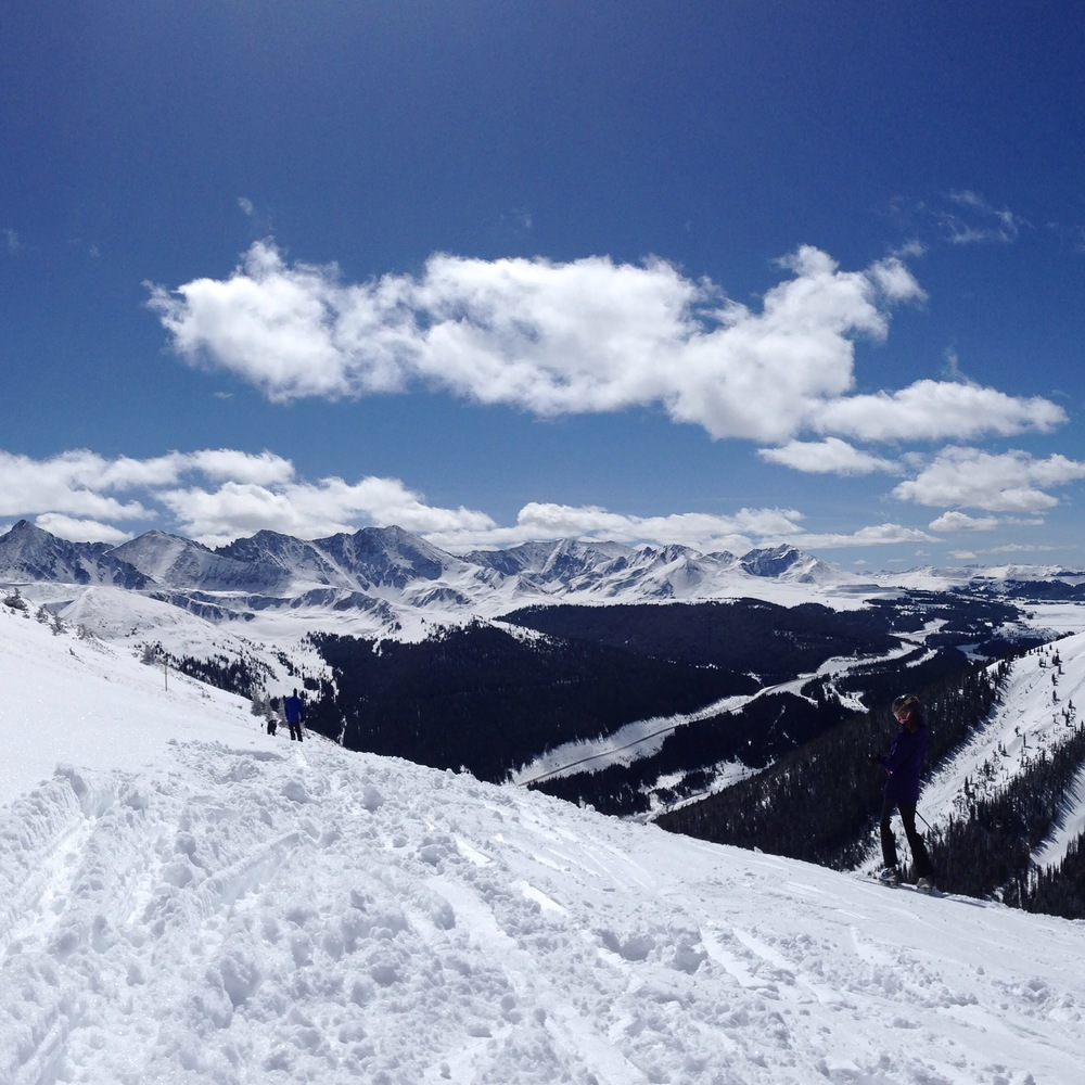 The view at the top of Copper Mountain. #powderhounds