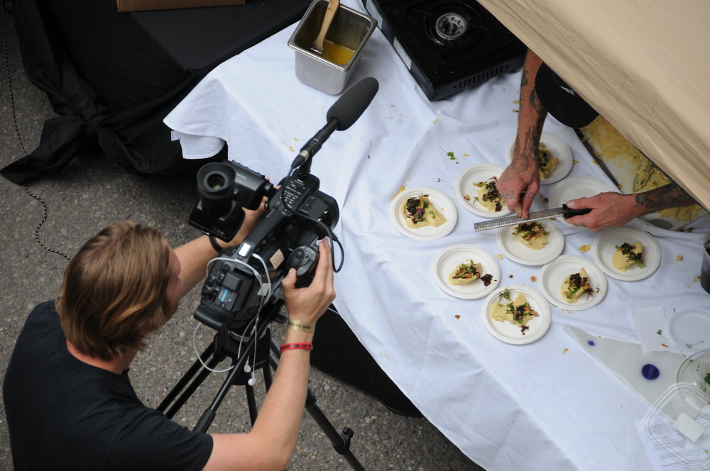 Filming the Telluride Mushroom Cookout