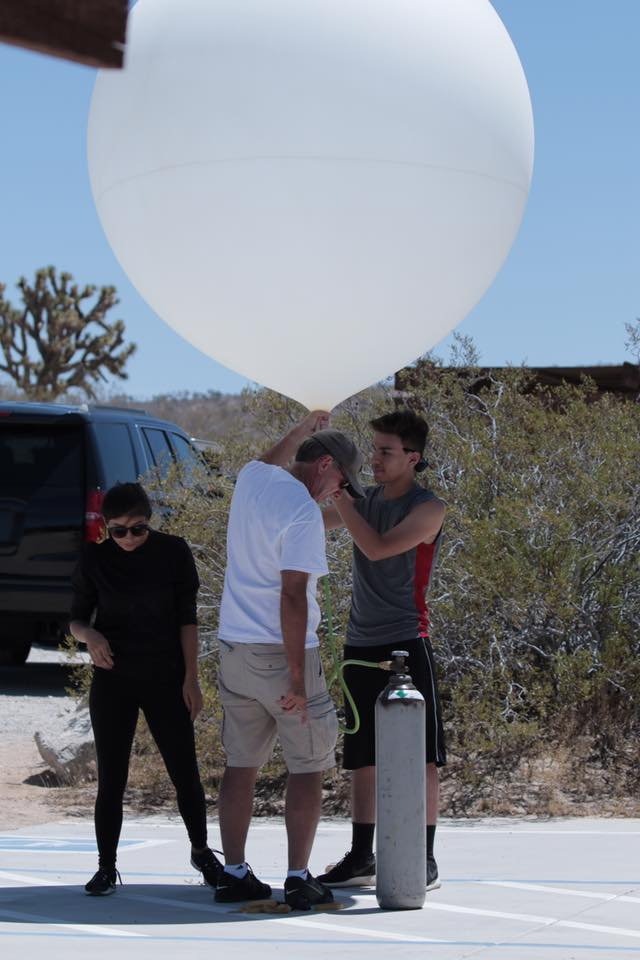 July 21st Weather Balloon launch in the mojave desert