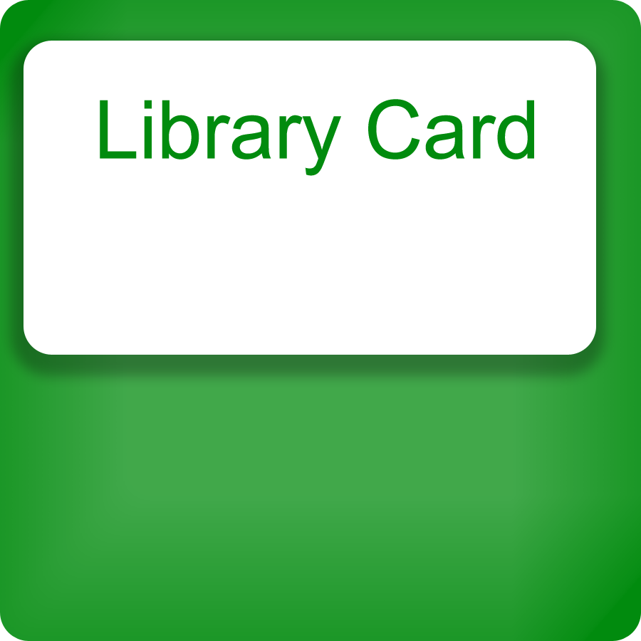 Click for information about library cards