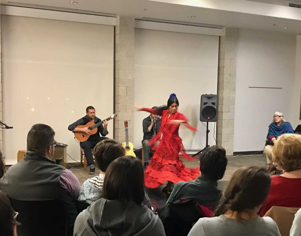 AN EVENING OF FLAMENCO - FLAMENCO PACIFICO BROUGHT FLAMENCO MUSIC. DANCE AND HISTORY TO THE LIBRARY.