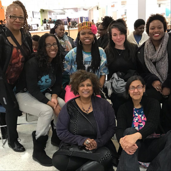 Top from left to right: Saliimah Ali, Sherese Francis, Damali Abrams the Glitter Priestess, Natali S. Bravo-Barbee, Shervone Neckles. Bottom from left to right: Lisa Wade, Rejin Leys