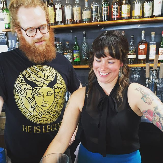 @octanewestside we're refreshing our drink menu for summer. Shanna Mayo helping out. Come say hi this weekend! #octanewestside #octanecoffee #cocktailsatl