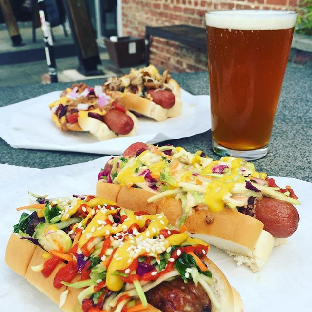Wiener Wednesday @octanewestside. Come join us for $5 dogs and $1 off draft beer. We're grillin' until 8pm. . . . . . . #octanewestside #octanecoffee #wienerwednesday