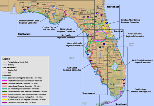 Maps Florida Greenways Trails Foundation - Map of the florida