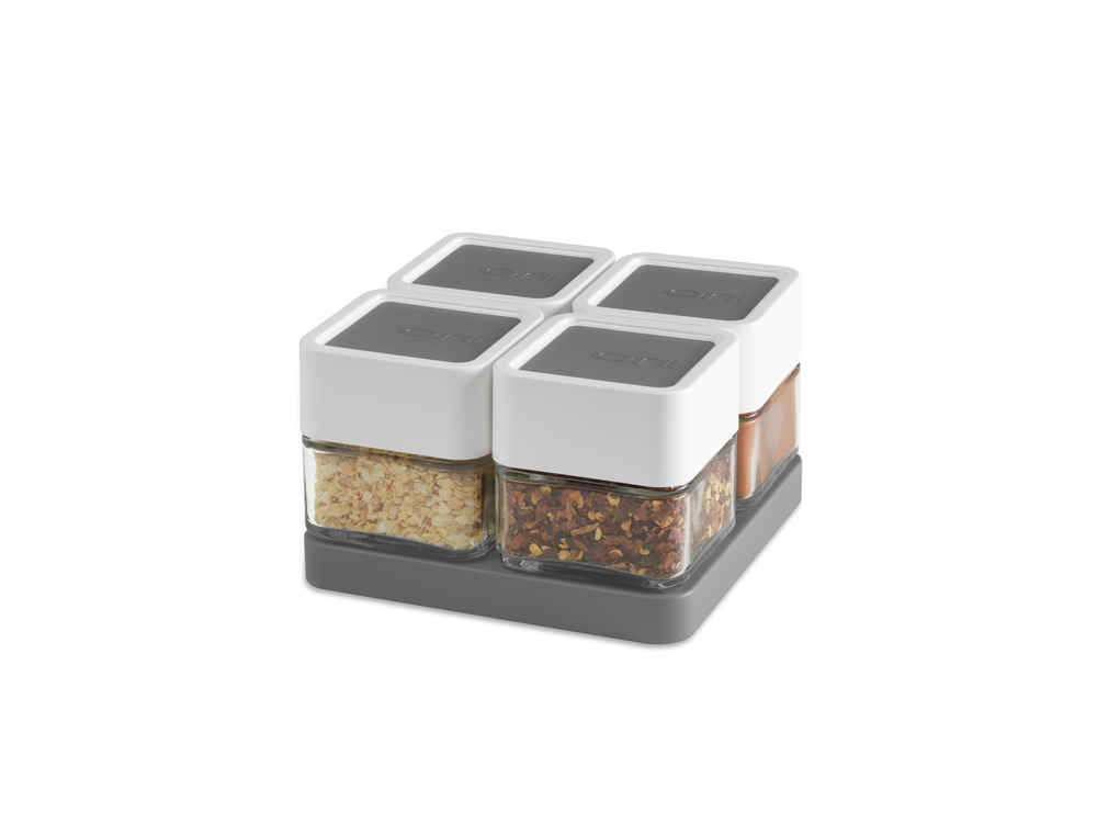 Orii 4 MONO - Spice Block   with BONUS Tray-    SET OF 4    CHARCOAL GRAY