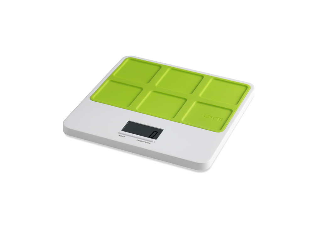 Orii MONO SLIM KITCHEN SCALE -LATTICE -   VIBRANT GREEN