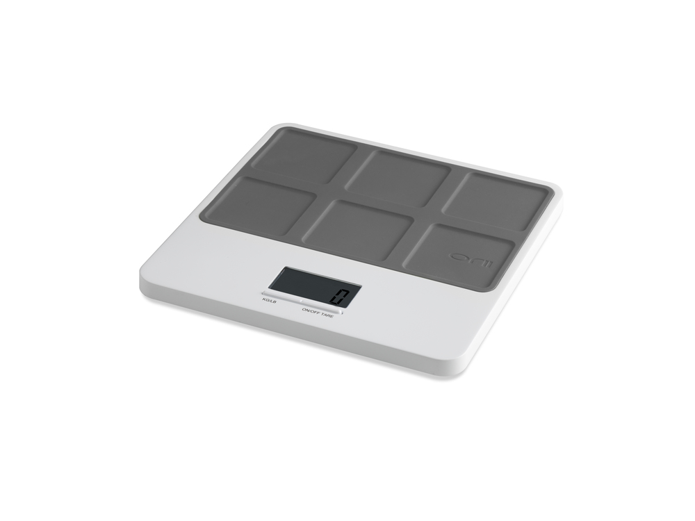 Orii MONO SLIM KITCHEN SCALE -LATTICE -   CHARCOAL GRAY