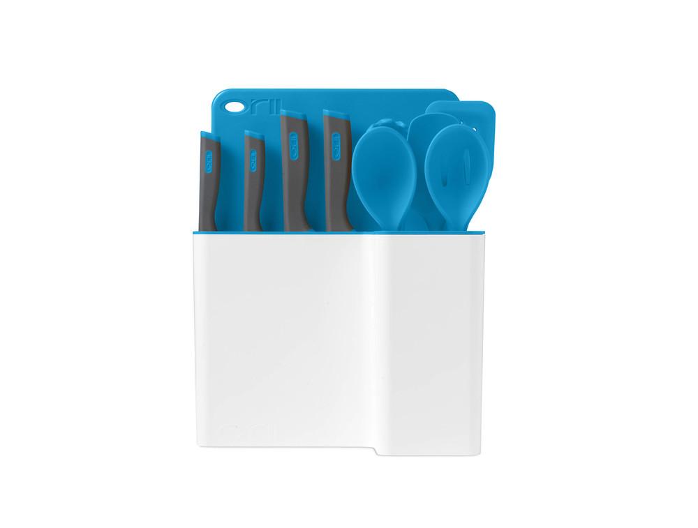 Orii 12PC MONO KITCHEN ORGANIZATION SET - ICE BLUE