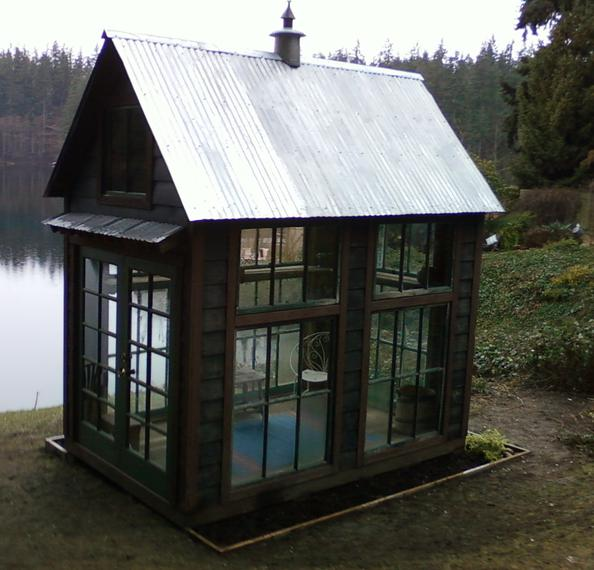 Black glass house, of course. This beauty is made at  Bob Bowling Rustics  on Whidbey Island, WA.