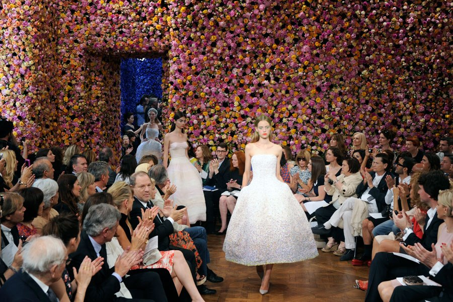 Link to the video of the hours and man power behind  creating the dior show  here.