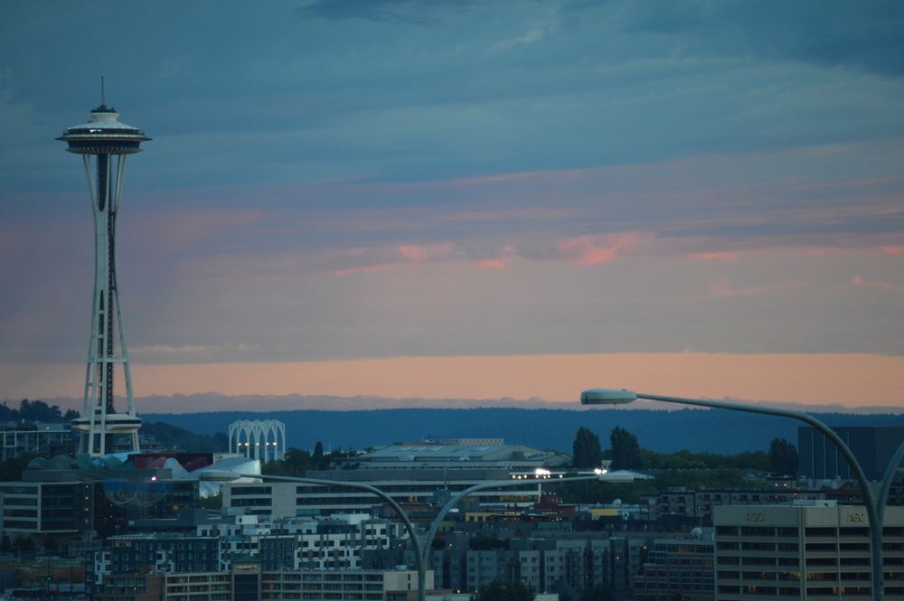 Space Needle just after 9:00 pm tonight.