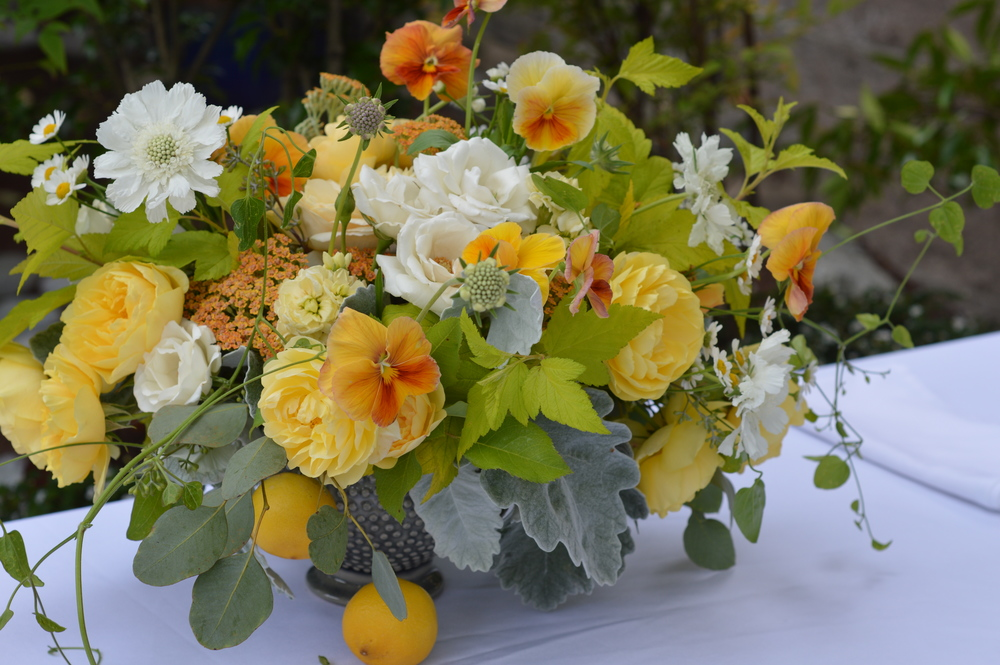 Pansies stole the show at the  Locus Wine  event this past July.