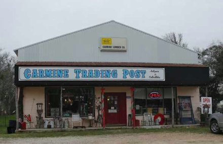 carmine trading post | art & veronica - OWNER CCC Member - 2017 (4) RV Spots with hook ups 248 centennial (spur 458) | Carmine, TX 78932 979-278-4040 8 miles from Round Top Square