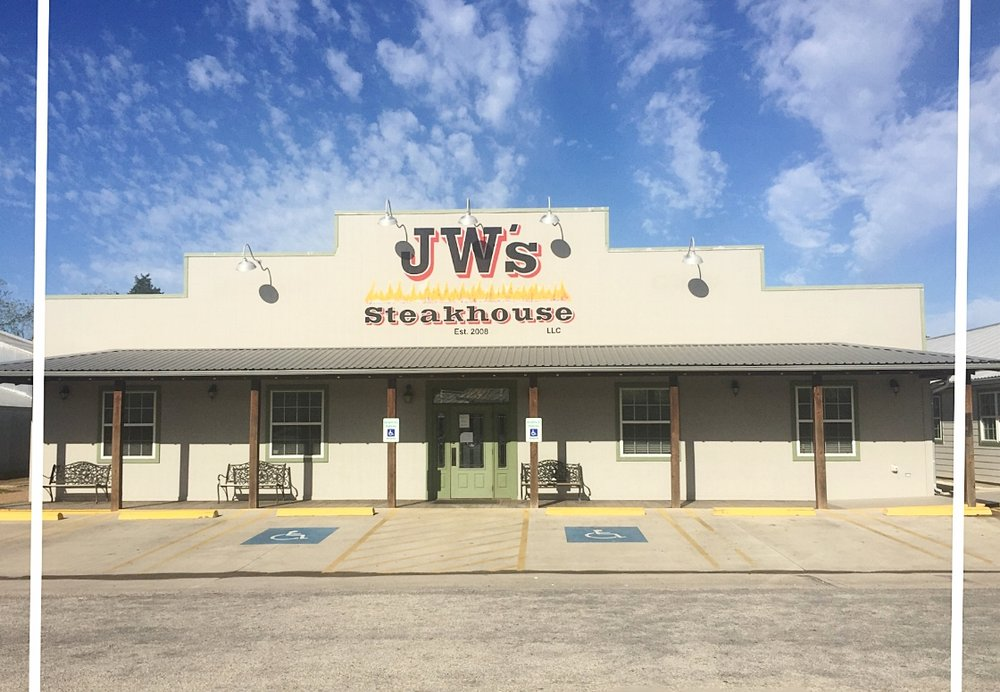 JW's STEAKHOUSE - Jeff & Kristie WunderlichFamily owned restaurant with country cooking featuring mesquite fired steaks, certified Angus beef, seafood, burgers, daily specials, including lunch specials, homemade desserts, large selection of beer & wine122 S. Hauptstrasse Street | Carmine, TX 78932979-278-4240Mon-Thur 11AM - 9 PM  |  Fri-Sat 11AM - 10PMClosed SundaysCCC Member - 2017