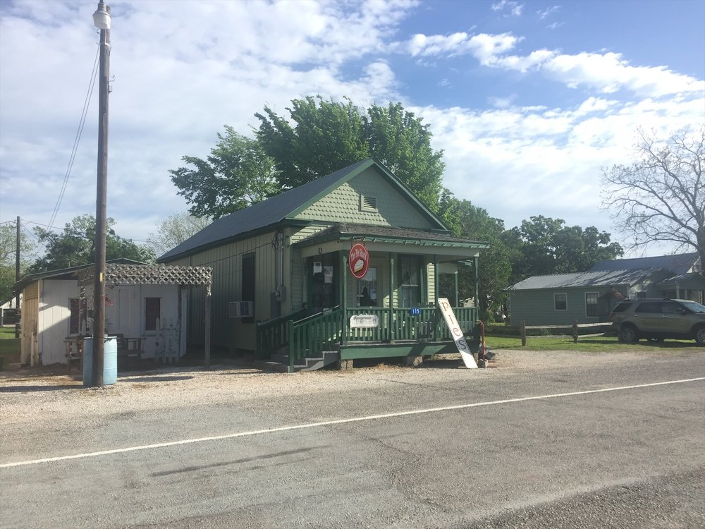 THE PIE SHACK - Vickie Nestler - OwnerBakery, Coffee Shop, Serving Breakfast & Lunch including Sandwiches & Hamburgers, Homemade Cookies & Pies(Whole or by the Slice)115 E. Thigpen | Carmine, TX 78932979-248-xxxxWed-Fri 9AM - 3PM | Sat-Sun 7AM - 4PM  Closed Mon & TueCCC Member - 2017