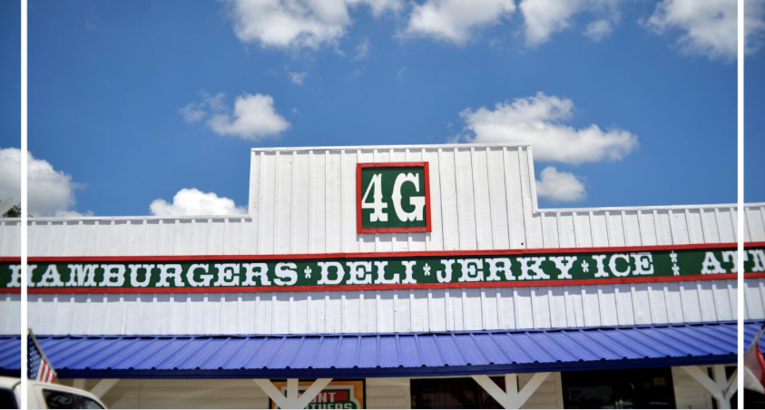 4G's Country Store & Travel Center  - Hot Breakfast, Burgers, Fries, Deli & Hunt Bros. Pizza979-278-3000Mon-Sun 5:00am - 10pmPizza Oven & Grill open until 9:30pmBBQ on Sat & Sun
