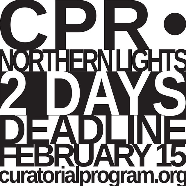 What are you waiting for?! Last two days to apply for CPR 2018: Dimming the Northern Lights #2days #last2days #deadline #whatareyouwaitingfor #applynow #reykjavik #iceland #faroeislands #torshavn #tromsø #norway #luleå #boden #sweden #hyrynsalmi #helsinki #finland