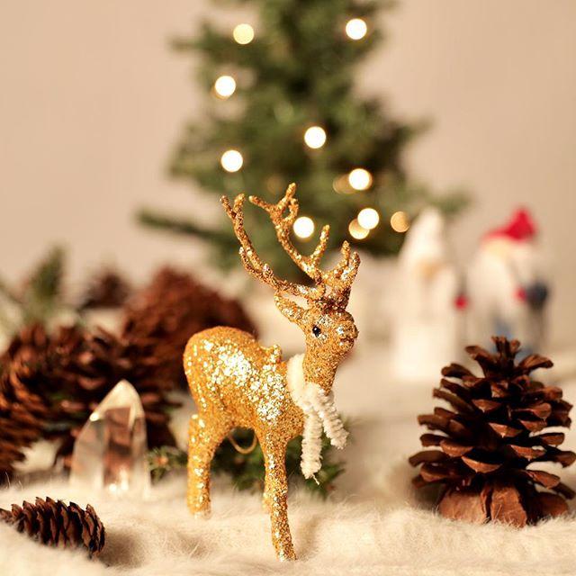 #christmasspirit #christmascard #threeonecreative #happyholidays #goldendeer #christmastree🎄