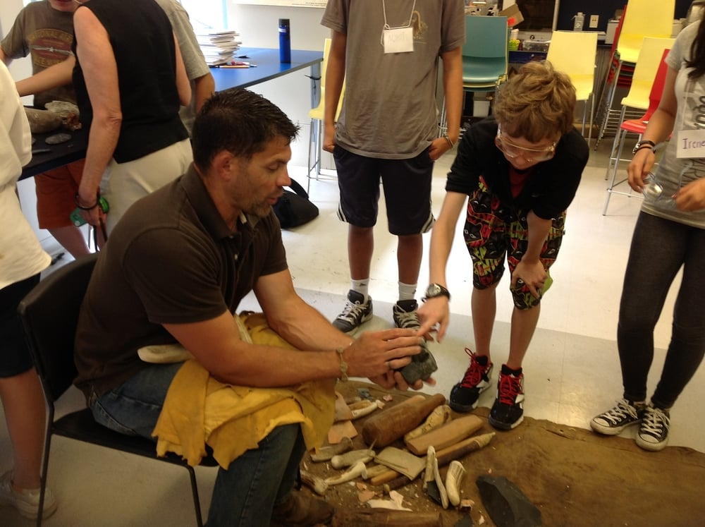 Flintknapping Demo
