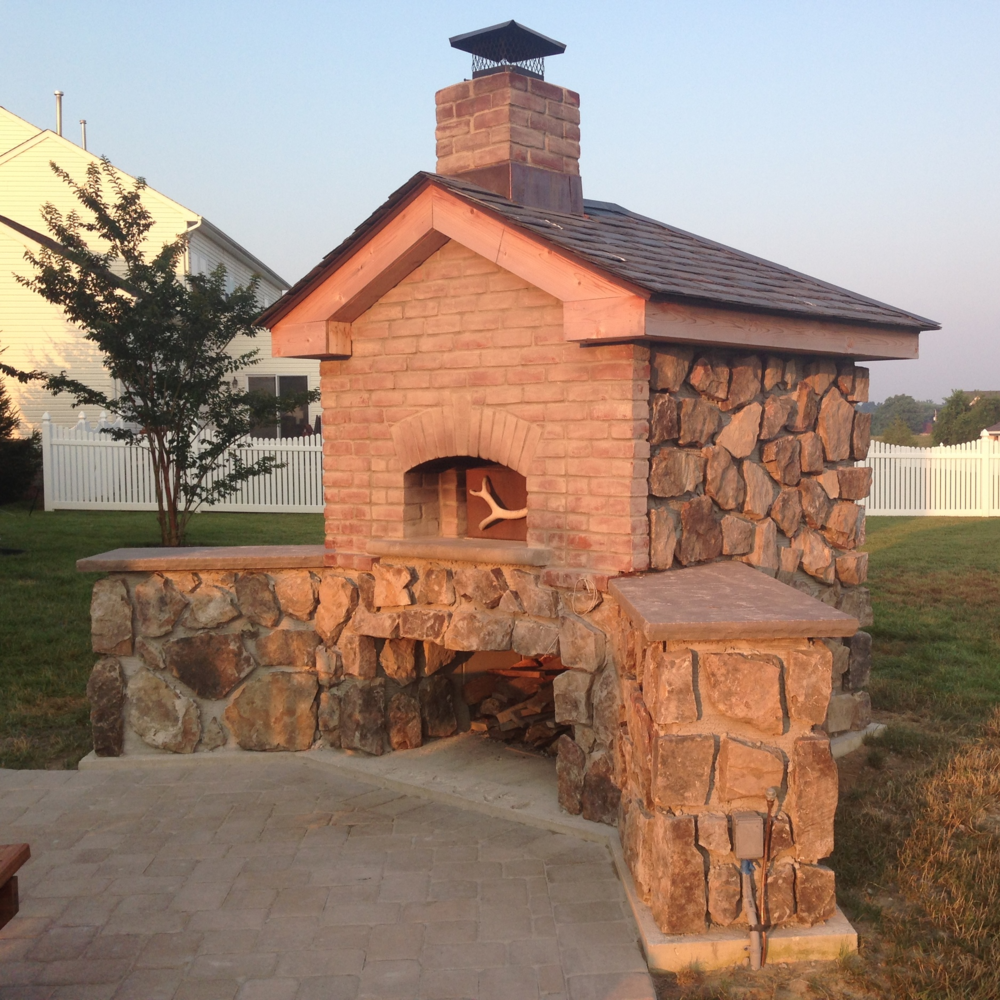 Dr. Schindler's homemade bread oven that prepares countless delicious meals for friends and family.