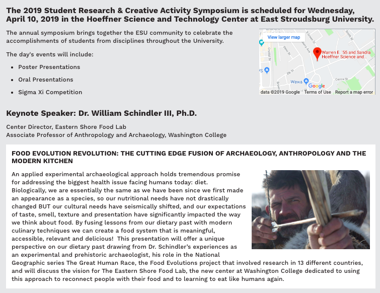 Keynote Address at 2019 Student Research & Creative Activity
