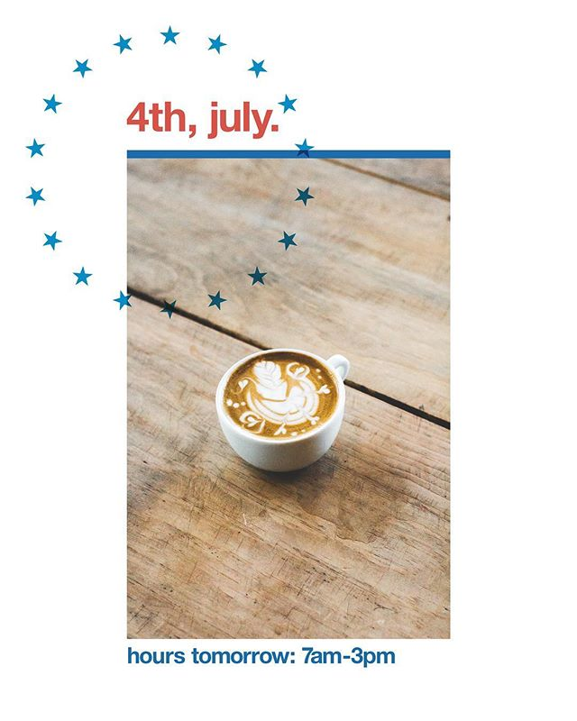 We are open tomorrow from 7am-3pm! Closing early so our volunteers can get some quality #murica time! Have a great 4th, stay safe, and drink espresso!🙌🇺🇸☕️#origincoffee  #coffeeshots  #coffeeprops  #manmakecoffee  #baristadaily  #igerssac  #visitsacramento  #thirdwavecoffee  #singleorigin  #coffee #espresso #cappuccino  #latte