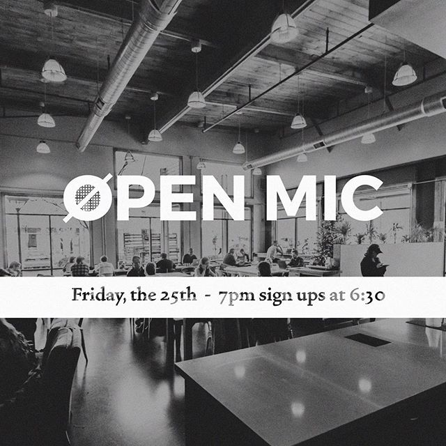 🚨That right y'all, TOMORROW NIGHT 🚨 The 25th we will be hosting an open mic night. Sign ups start at 6:30. We'll see you then!