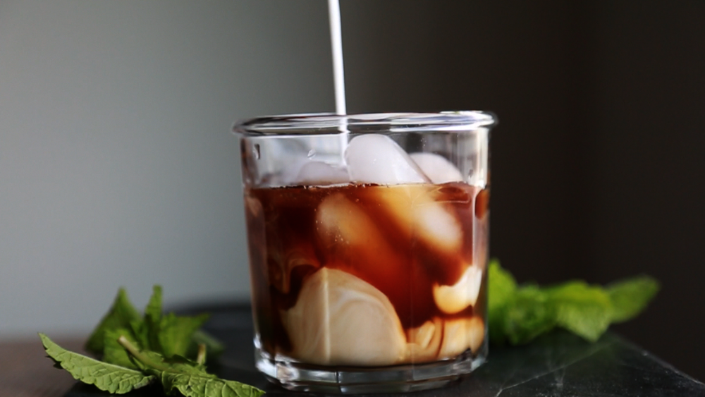 MUddled Mint ICed Coffee