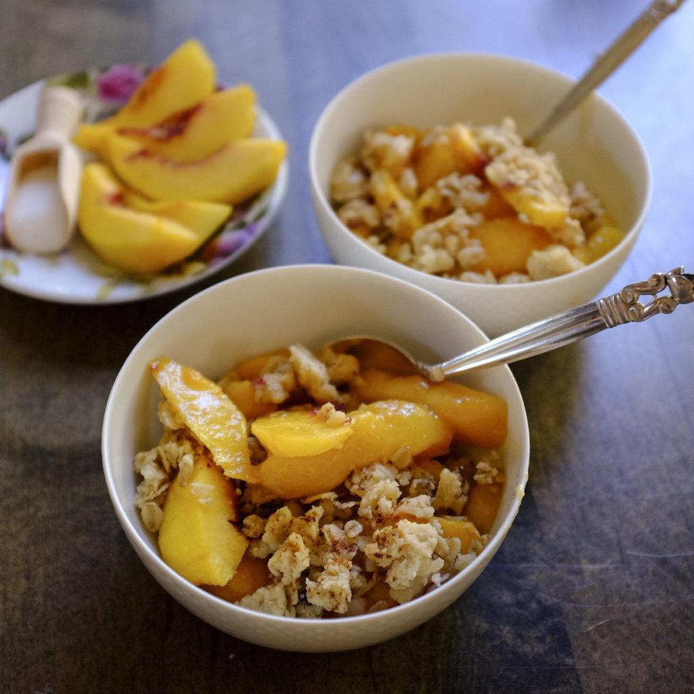 peach & nectarine Cobbler