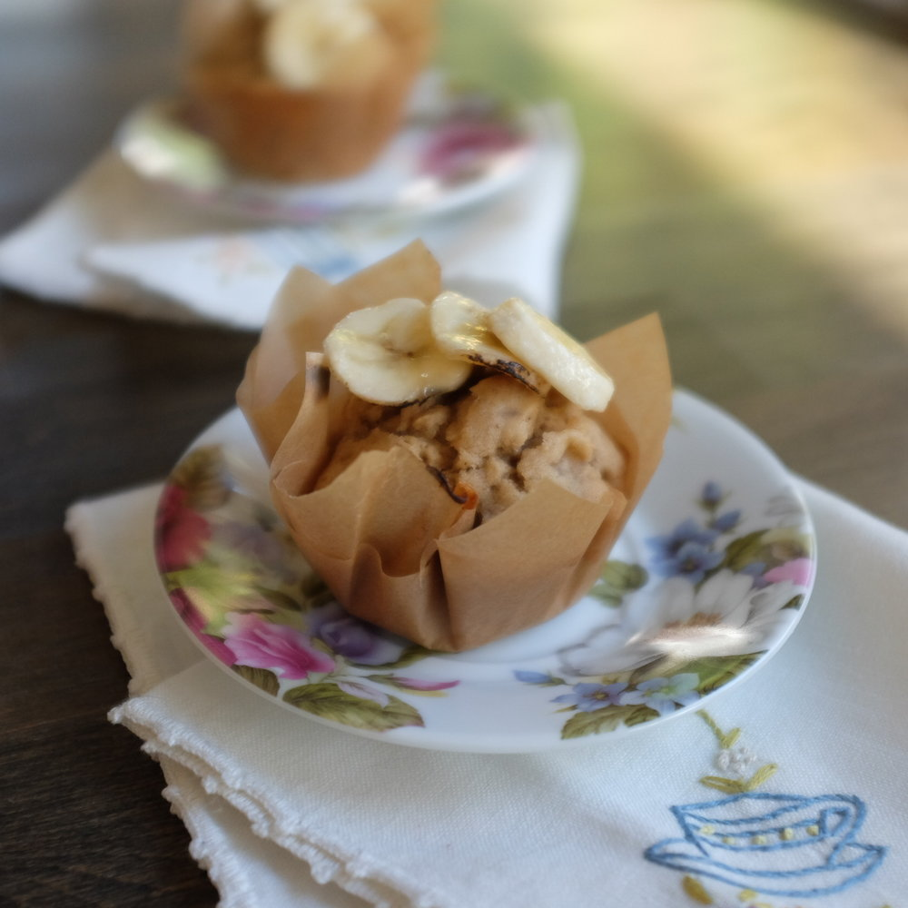 glute-free banana bread muffins