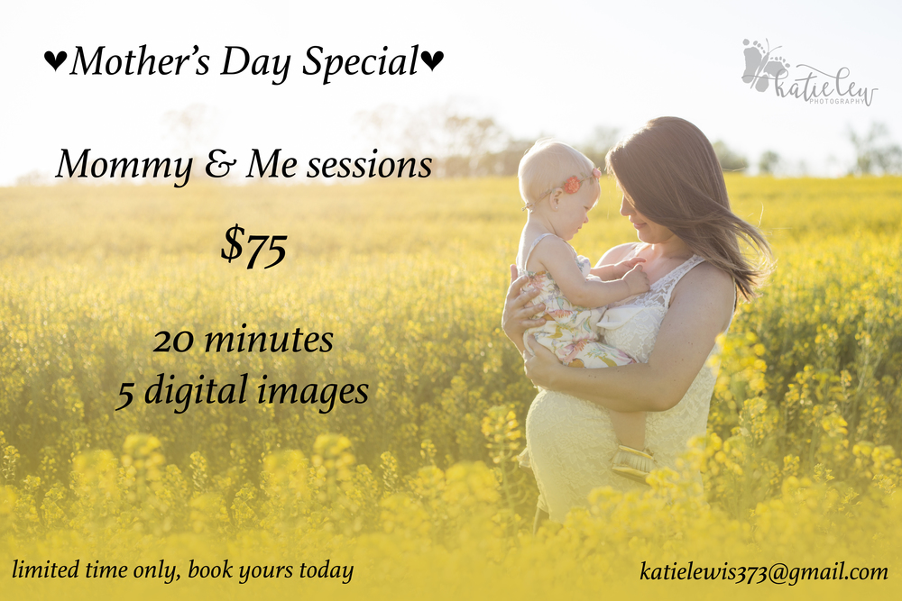 This special is only good until May 8th, book yours today! This is the last time I'll be offering these sessions at this price.